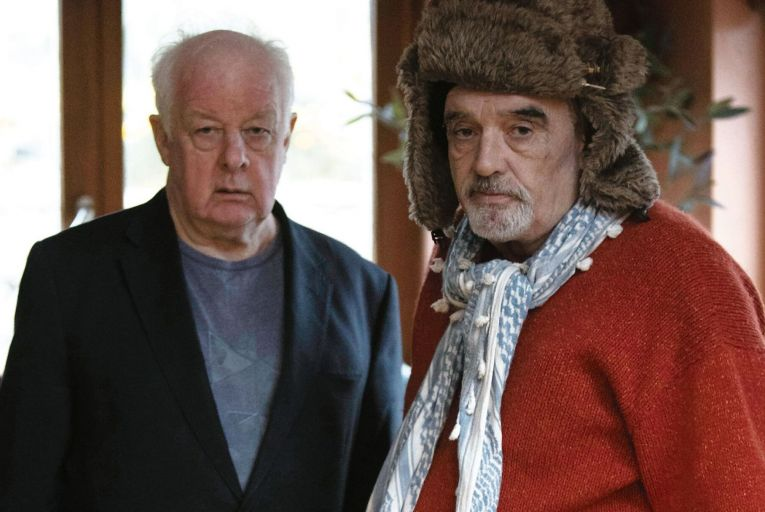 Director Jim Sheridan interviews Ian Bailey, the former chief suspect in the murder of Sophie Toscan du Plantier, in Murder at the Cottage. Picture: Barbara McCarthy/Hells Kitchen