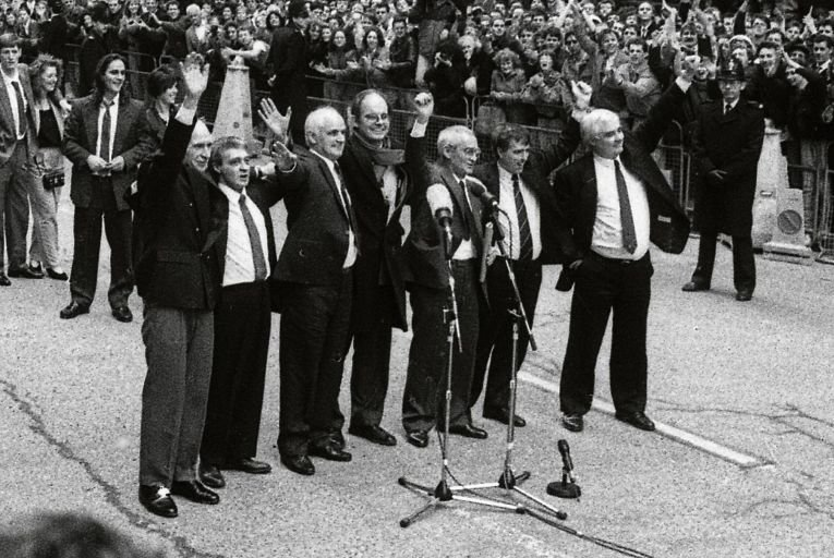 The convictions of the Birmingham Six were declared unsafe and quashed by the Court of Appeal in March 1991. Picture: Getty
