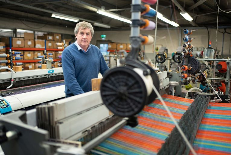 Brian Hanly, managing director of John Hanly & Co Woollen Mills: 'Brexit is a complete shambles, a nightmare.' Photo:Barry Cronin