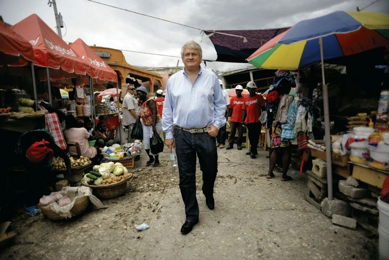 Denis O'Brien in Port au Prince, Haiti. O'Brien owns Digicel, which China Mobile is attempting to takeover Picture: Antonio Bolfo/Getty Images