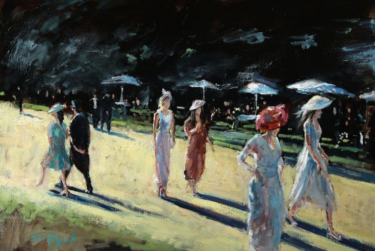Out For a Stroll, Royal Ascot by John Fitzgerald has an estimate of €1,500-€2,500