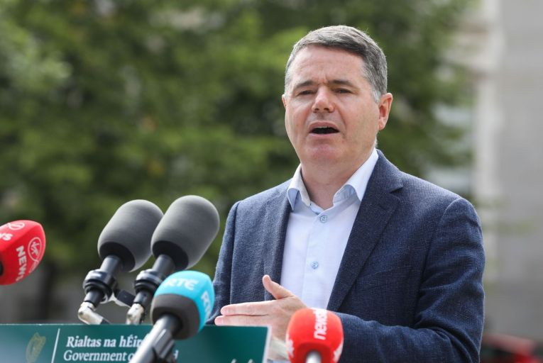 Paschal Donohoe, the Minister for Finance, and his officials are set to push hard over the coming weeks to secure a change in the OECD's wording around the minimum corporate tax rate. Picture: RollingNews.ie
