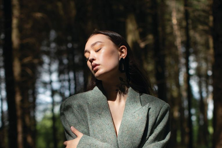 Irish designer Cleo Prickett's 'Yaddy' jacket in Donegal wool is one of just eight available