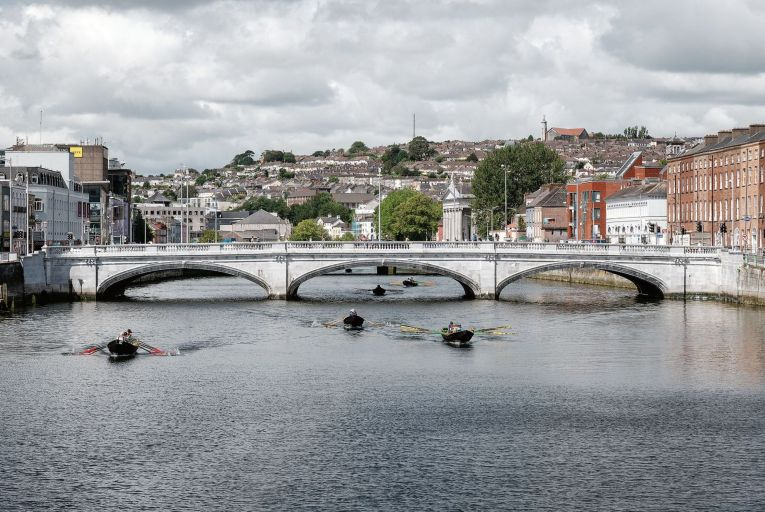 St Patrick's Bridge in Cork city was restored and is illuminated by its original gas lamps