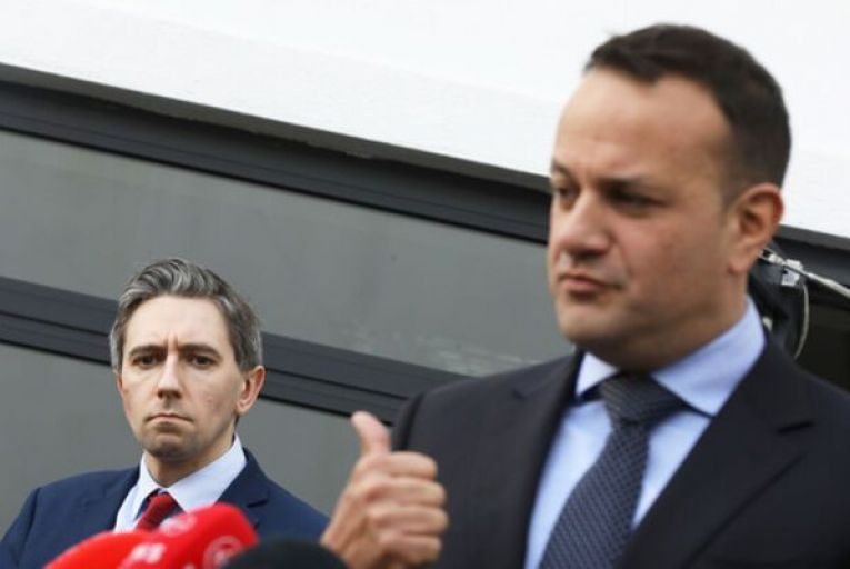 "Leo Varadkar has accused Sinn Féin of attempting to ""reheat an old political controversy"" after the party raised new questions over how the Tánaiste, pictured here with Simon Harris, leaked a copy of a GP contract to a friend. Picture: Leah Farrell/RollingNews.ie"