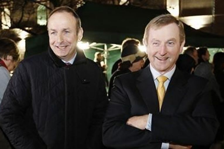 Enda Kenny may well be talking to Micheál Martin in coming days Pic:RollingNews.ie