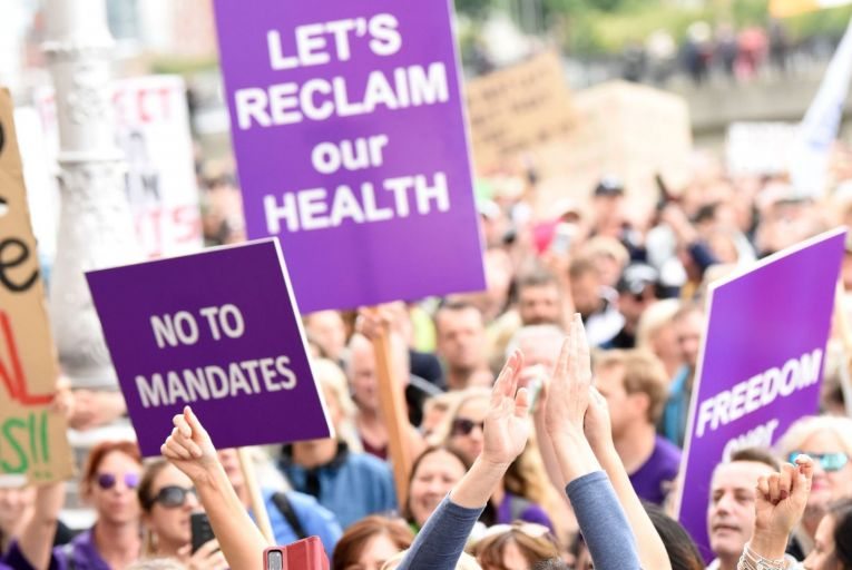 The Minister for Health was speaking after thousands of people took to the streets in Dublin last weekend to take part in an anti-mask rally
