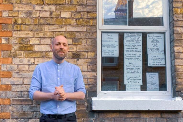 Dermot Staunton, former chef at Delahunt on Camden Street in Dublin, has opened a shop from his window in Stoneybatter during lockdown