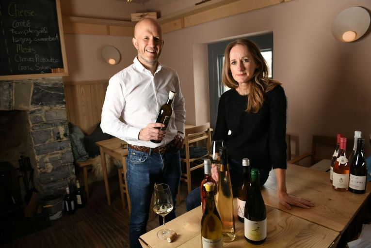 Eric and Michelle Robson, owners of the Ely chain, were forced to close their two restaurants at the IFSC and Ely Place in Dublin, but were able to keep their Maynooth premises open as it doubled as a wine store. Photo: Bryan Meade