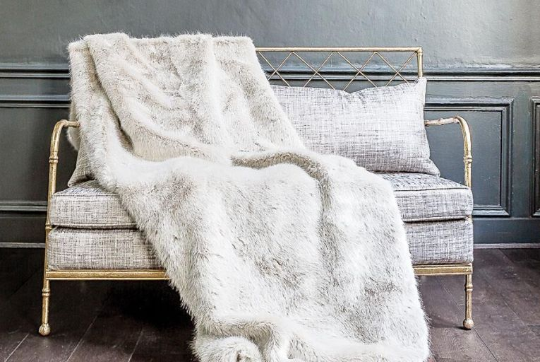 A Nobilis throw adds a luxury texture