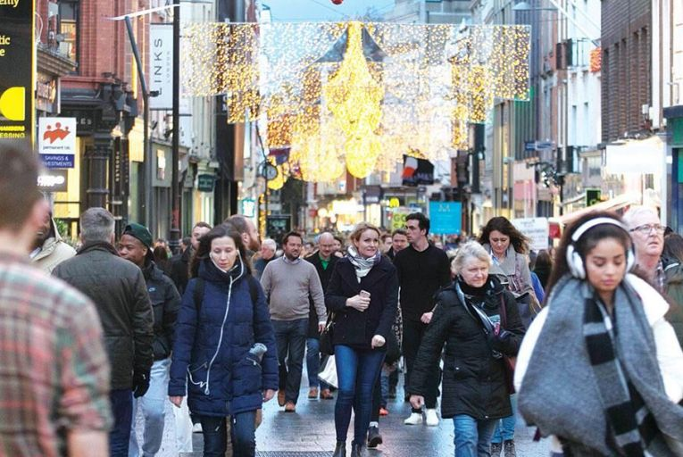 Christmas shopping  on Grafton Street  in central Dublin Picture: Collins