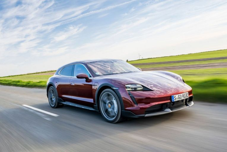 The Porsche Taycan Turbo Cross Turismo: there's an extra gloss of refinement to the way this car goes about its business