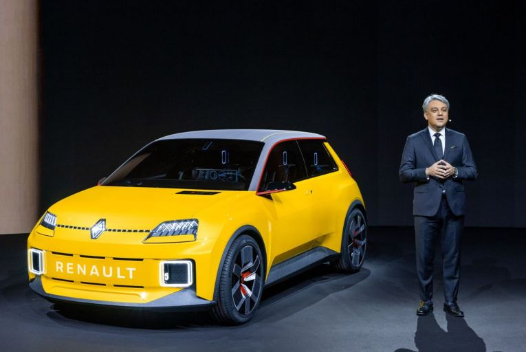Luca de Meo, chief executive of Renault, presents the new Renaulution strategy