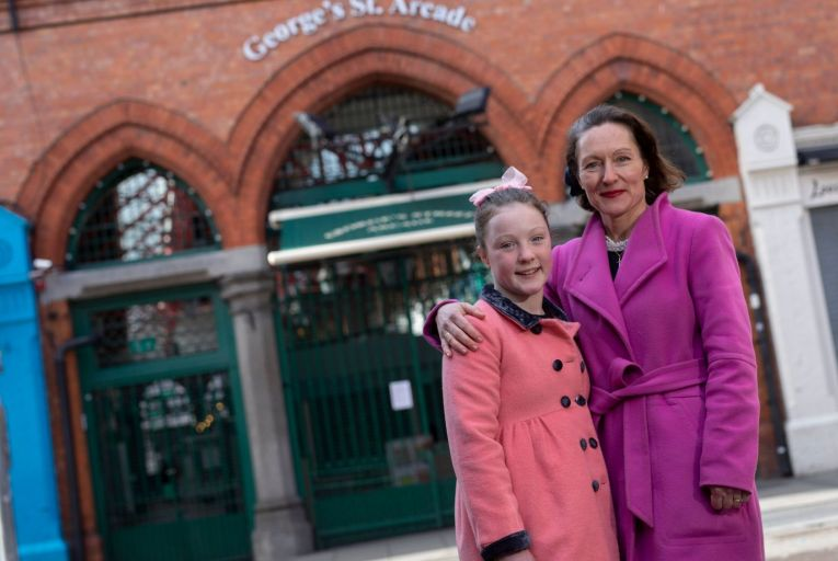 Gwen Layden and her daughter Jessica at George's Street Arcade, which is owned by the family. The Laydens said earlier this year that it would be immoral to charge tenants rent in the middle of a lockdown. Picture: Fergal Phillips