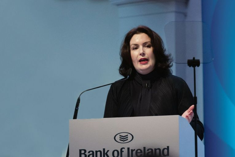 Francesca McDonagh, Bank of Ireland chief executive, said the half-year results put the organisation in a 'radically different' place from 12 months ago. Picture: Maura Hickey