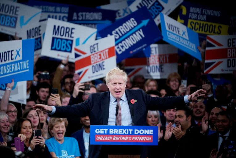 Boris Johnson was able to turn alleged Labour Party anti-Semitism into a wedge issue during the British electoral campaign. Picture: Getty