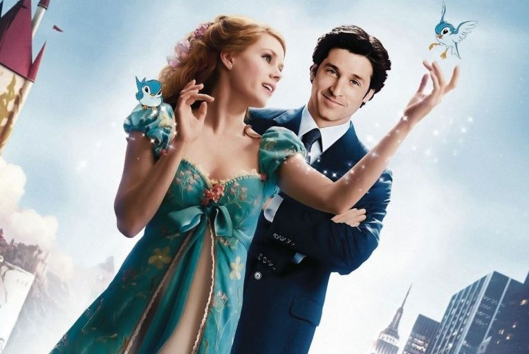Amy Adams and Patrick Dempsey in Enchanted: their arrival in Ireland to film the sequel has predictably caused a stir