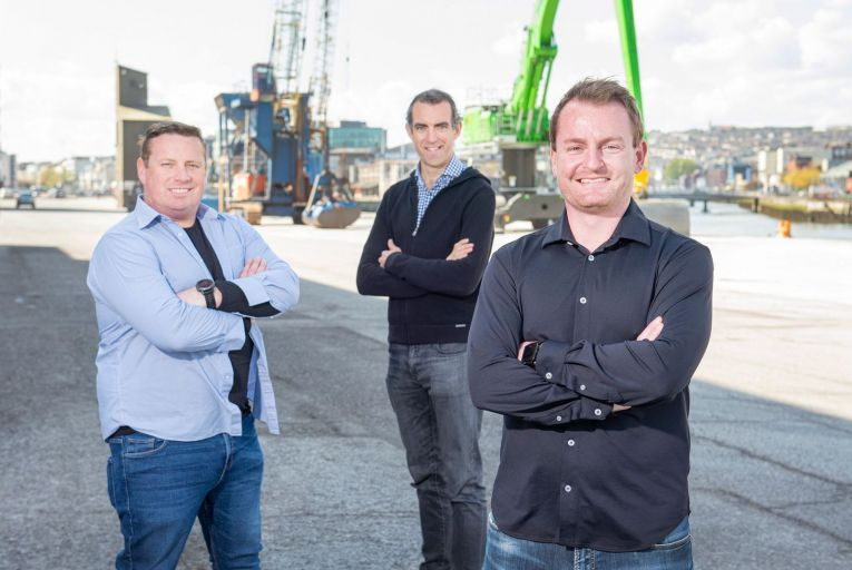 Martin Fitzgerald, Mike McGrath and Chris Kennedy of Kwayga which is in the process of raising €500,000 in pre-seed funding. Picture: Gerard McCarthy