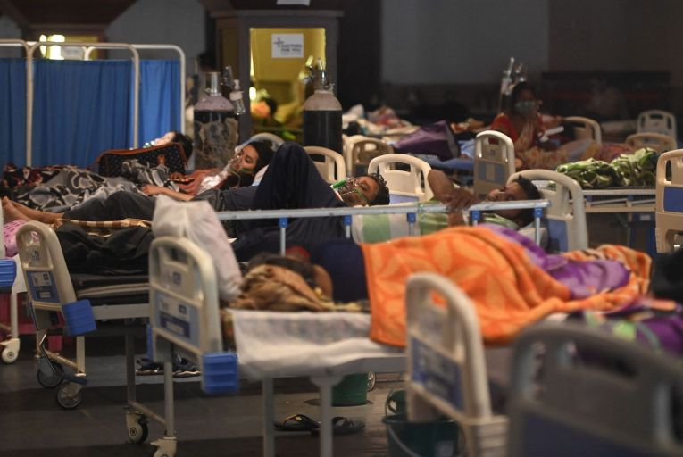 The BKC Covid-19 vaccination centre was closed due to a shortage of vaccines last week in Mumbai, India Pic: Getty