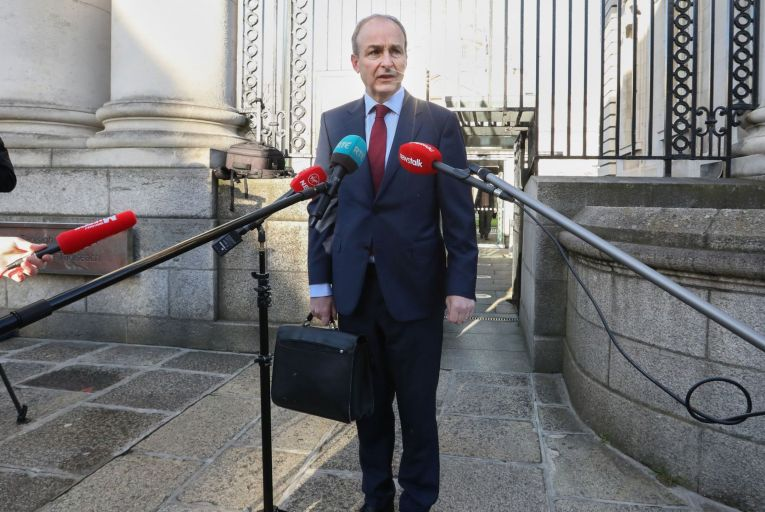 Taoiseach Micheál Martin: 'Any easing of the restrictions has to be slow and cautious because of the threat from new variants of the disease.'