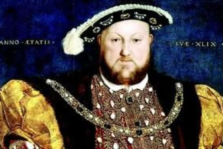 Hans Holbein\'s 1537 painting of Henry VIII.