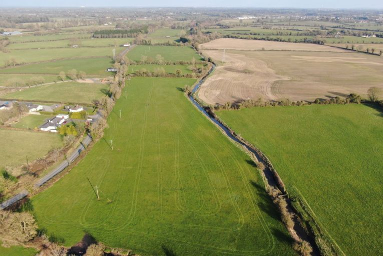 An aerial shot of the site at Moyglare in Maynooth, Co Kildare