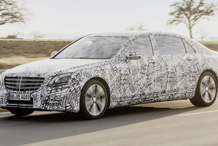 The next-generation Mercedes-Benz S-Class is still secret enough to be wearing camera-troubling camouflage over its bodywork