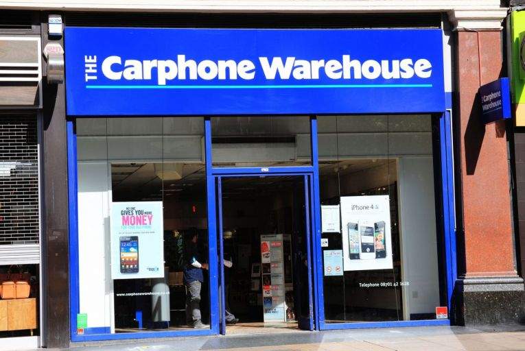 Carphone Warehouse has 80 Irish stores. Picture: Getty