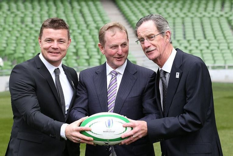 Brian O\'Driscoll, Enda Kenny and Dick Spring launched Ireland\'s bid for the rugby world cup back in 2015