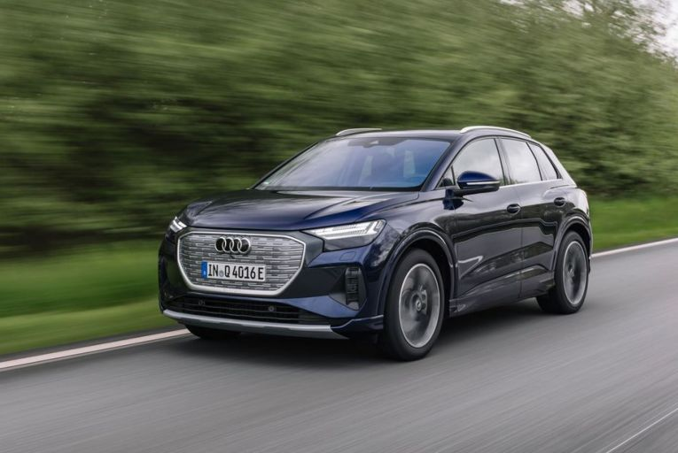 The Audi Q4 40 e-tron starts at an eye-catching price of €41,465. Picture: Roman Raetzke