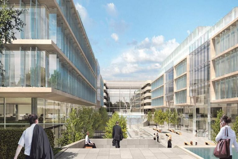 Johnny Ronan's Fibonacci Square plan  in Ballsbridge: Nama has denied the site was owned by Siobhán Quinlan, the wife  of developer Derek Quinlan  Picture: Maura Hickey