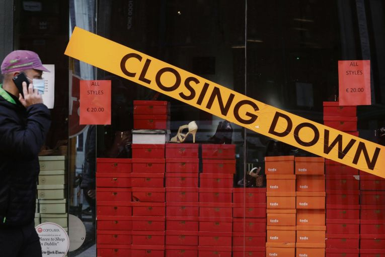 Retailers are feeling the pressure from lockdown restrictions, with some forced to close. Photo: Rollingnews.ie