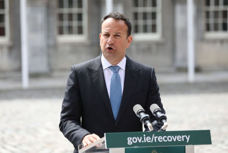 The timing of Leo Varadkar's speech, just as the North's executive teetered on the brink of collapse, was open to criticism. Picture: RollingNews.ie