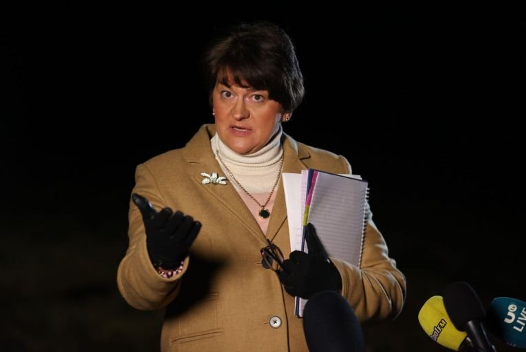 "Arlene Foster, the DUP leader, has refused to acknowledge the existence of a post-Brexit border in the Irish Sea, instead referring to a ""regulatory issue"" in the Irish Sea."