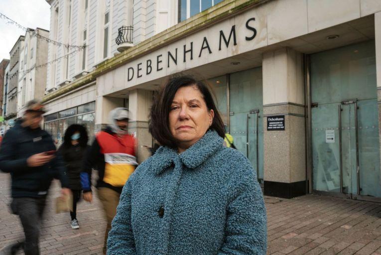 Valerie Conlon lost her job when Debenhams in Cork shut down in the early days of the pandemic. Credit: John Allen