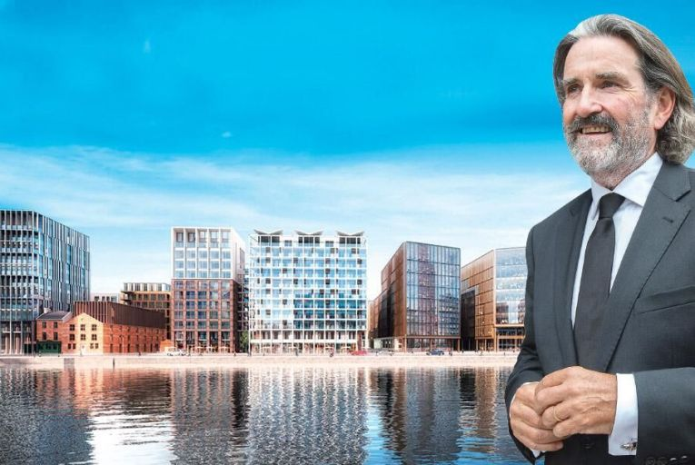 Johnny Ronan: the property developer will invest €1 billion in a 4.6-acre site on Dubln's north docklands in a joint venture with US investment group Colony Capital Pic: Tony Gavin
