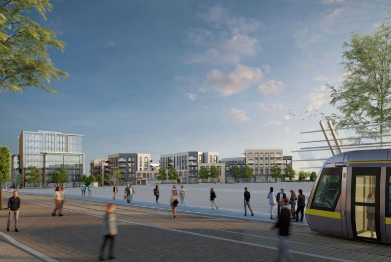 Plans for the mixed-use development at Town Centre 3 in Cherrywood in south Co Dublin