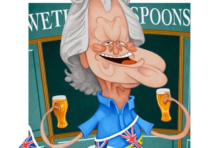 Tim Martin says the two most expensive pubs he has ever bought are in Dublin, on Camden Street and Abbey Street. There are 861 Wetherspoons pubs