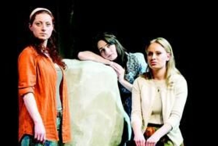 Melissa Nolan, April Bracken and Tanya Wilson in Love In The Title. Photo: Eleanor Keegan