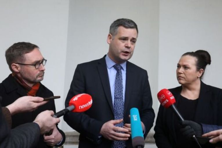 Eoin Ó Broin, Pearse Doherty and Louise O'Reilly are among the Sinn Féin TDs who have appeared in promoted videos. Picture: Leah Farrell/RollingNews.ie