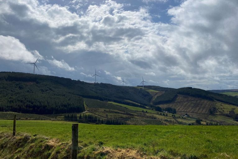 Glencarby wind farm has been in operation since July 2017