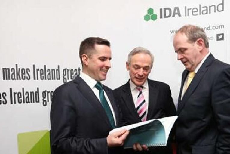 Martin Shanahan, Minister Richard Bruton and Frank Kelly Pic: Rollingnews.ie