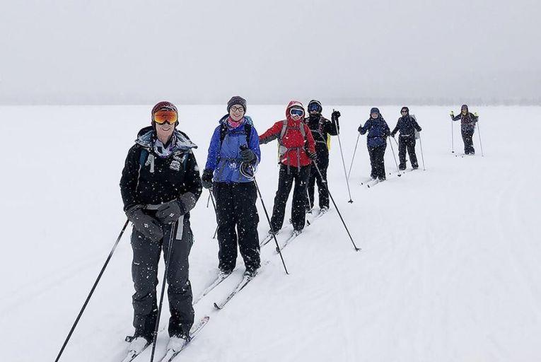 Liavan Mallin with  Debra Ireland teammates on  the charity's Arctic Challenge
