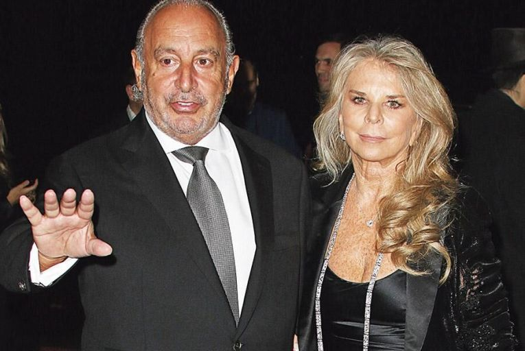 Philip Green and his wife Tina in happier times Picture: Getty
