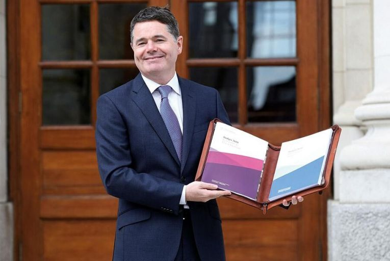 Paschal Donohoe  presents his 'Brexit budget' Picture: Getty