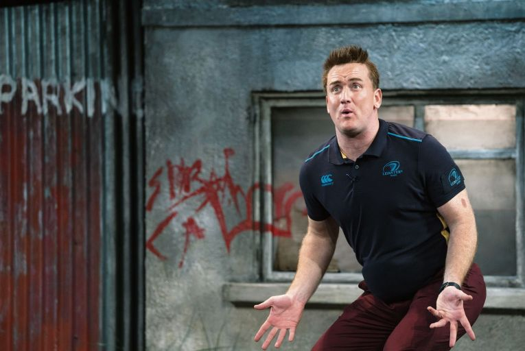 Rory Nolan as Ross O\'Carroll-Kelly in a new online theatre presentation of Postcards from the Ledge. Picture: Patrick Redmond