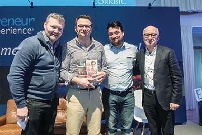Pete Smyth, Jim Urell, Oisin Kim and Michael O'Connor at the Entrepreneur ExperienceJohn Allen