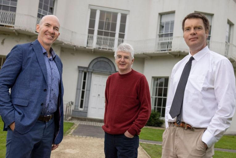 Peter Doyle, Christian Burnham and Niall English of Biosimulytics, a spin out of University College Dublin which has just raised half a million euro. Picture: Fergal Phillips