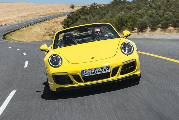 The new Porsche 911 Carrera 4 GTS Cabriolet puts down its remarkable power in an effortless and enjoyable way