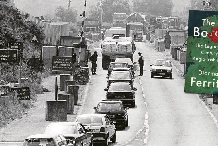 The Killeen checkpoint in Newry, Co Down: many such fortifications dotted the border during the Troubles  Pic: Pacemaker